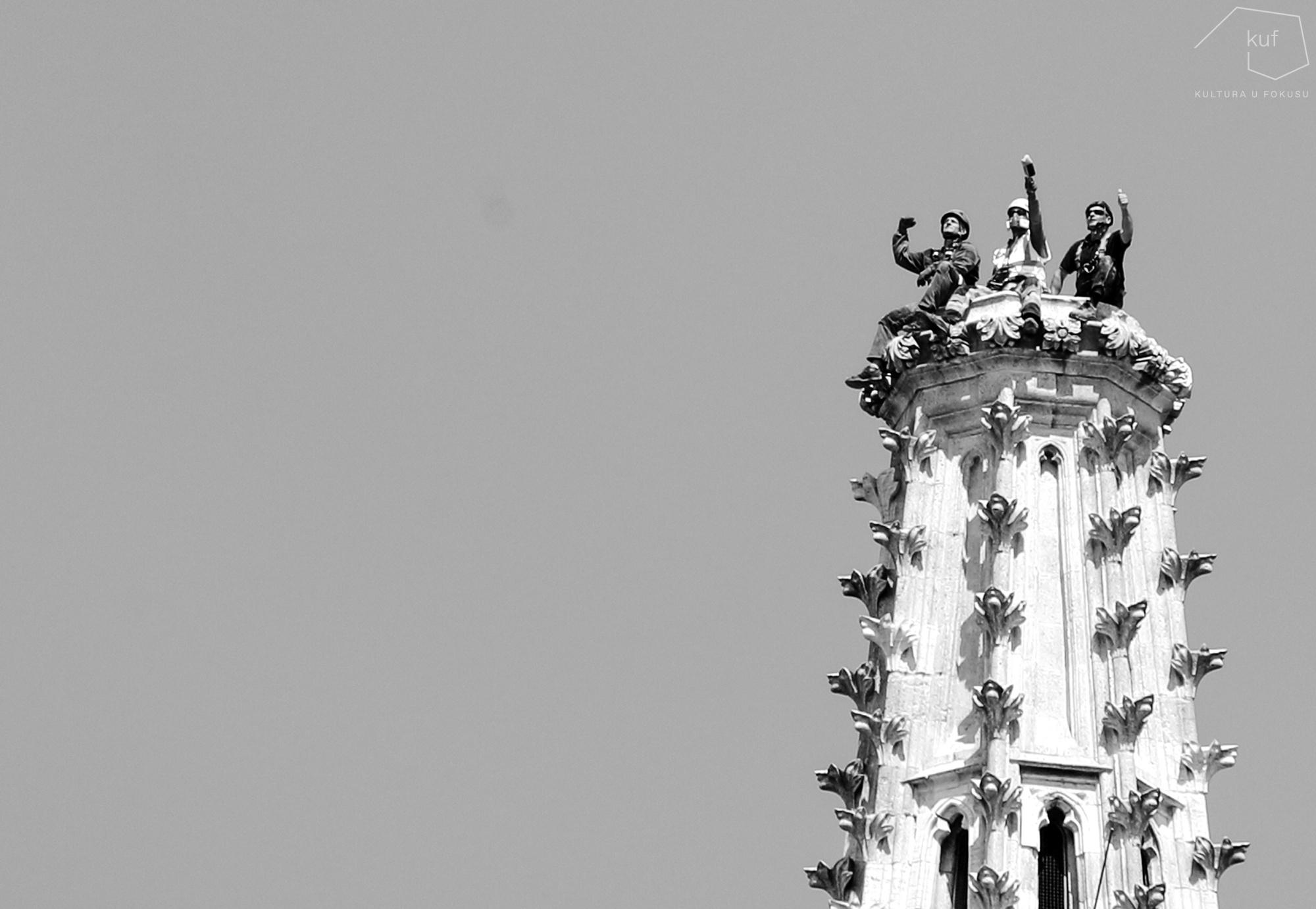 Spašeno kulturno blago - toranj katedrale.
